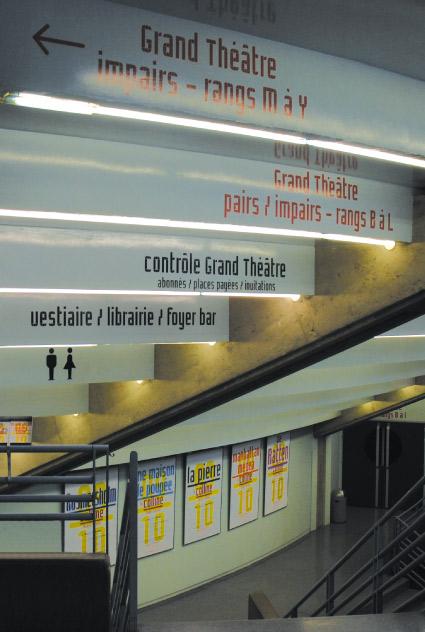 La Colline théâtre national 09/10 - Signalétique