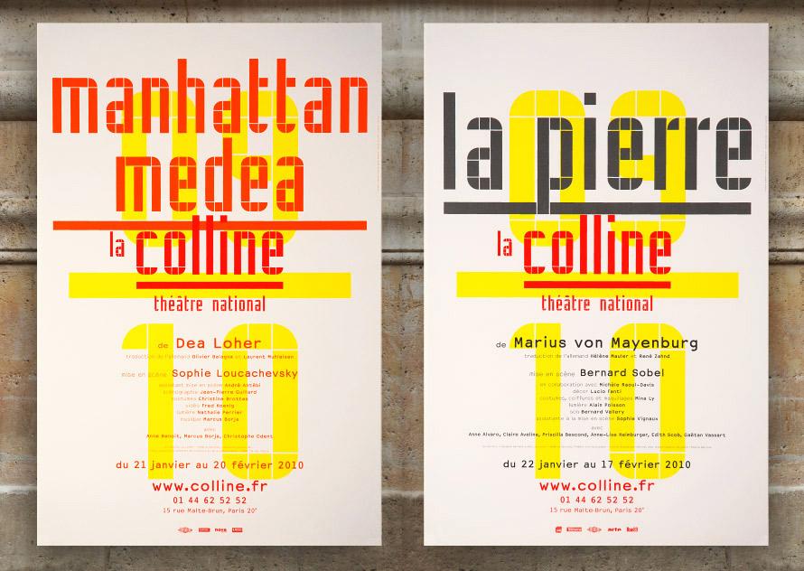 La Colline théâtre National 09/10 - Affiche