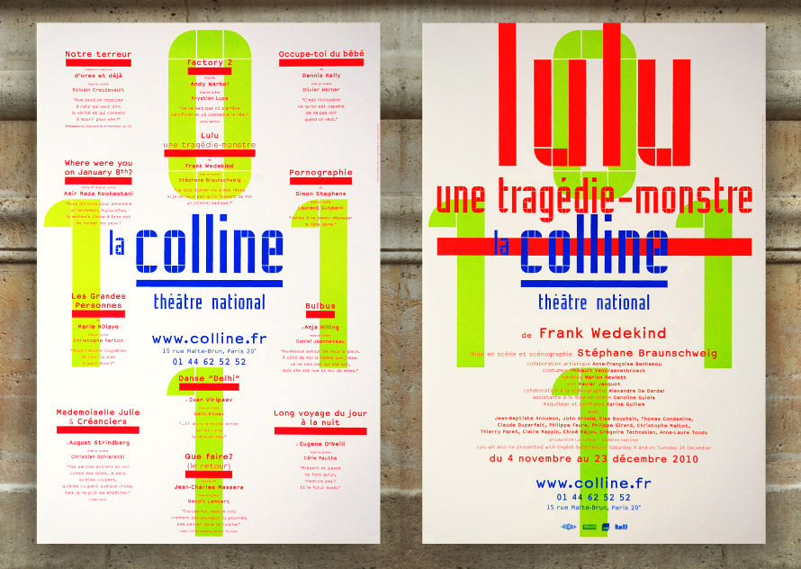 La Colline théâtre national 10/11 - Affiche