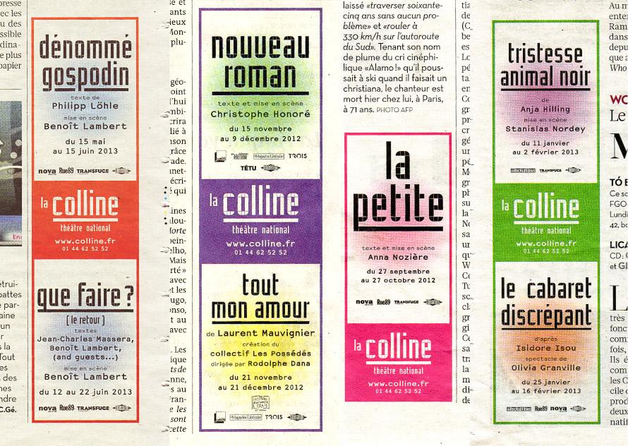 La Colline théâtre national 12/13 - Annonces