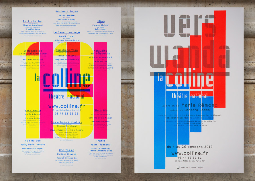La Colline théâtre national 13/14 - Affiches