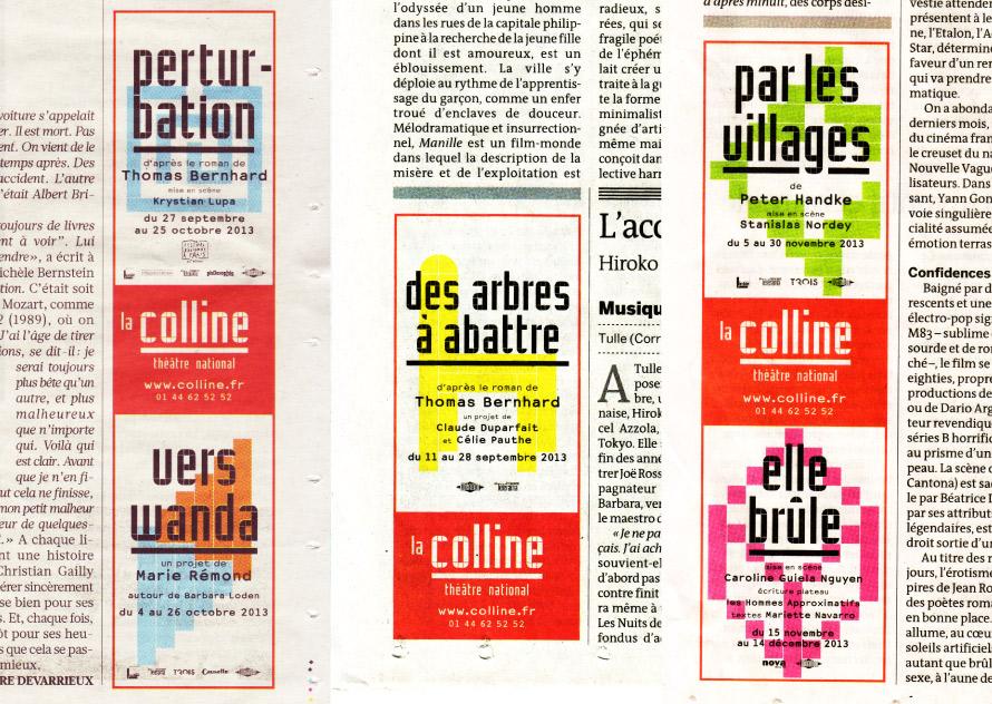 La Colline théâtre national 13/14 - Annonce
