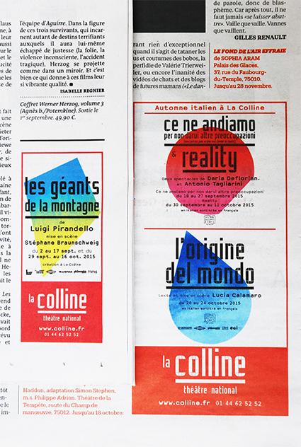 La Colline théâtre national 15/16 - Annonces