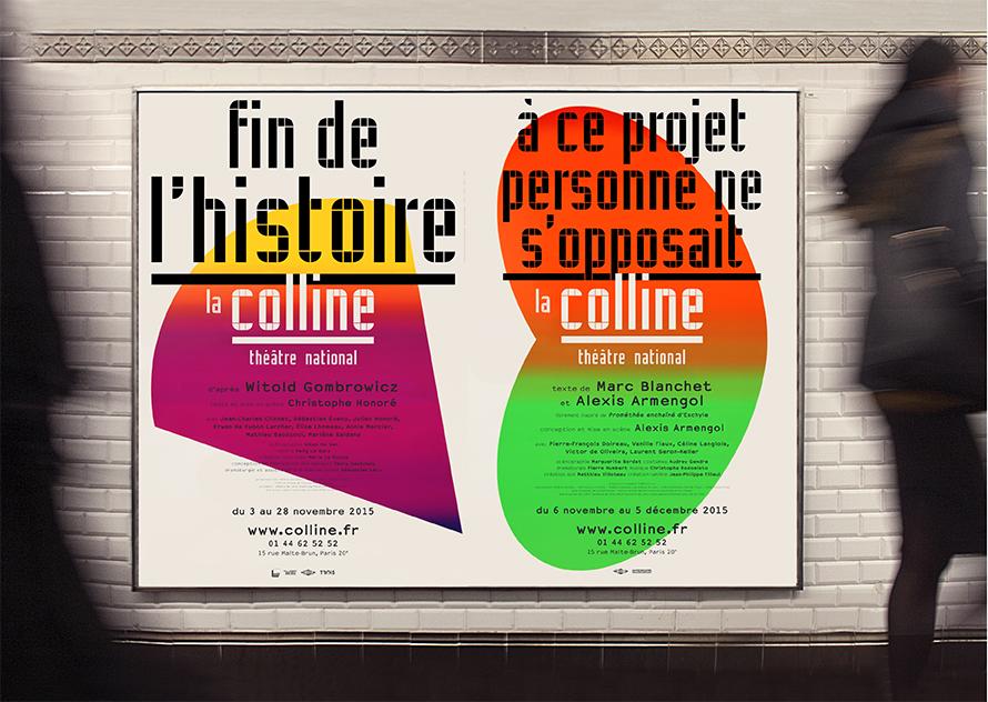 La Colline théâtre national 15/16 - Affiches