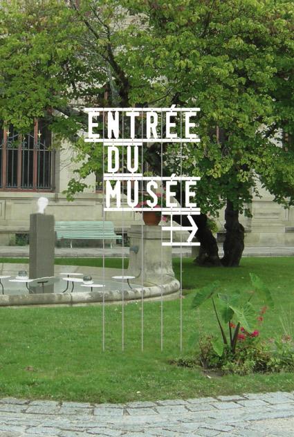 Musée National Adrien Dubouché - Signalétique jardin