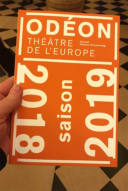 Odéon - Théâtre de l'Europe 18/19 - programme saison