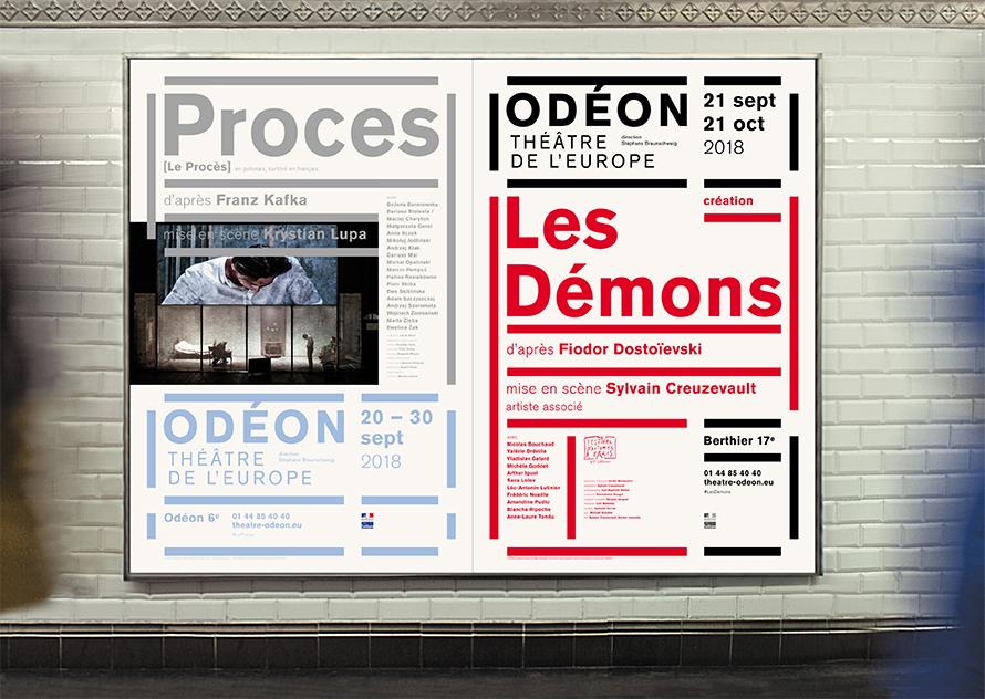 Odéon - Théâtre de l'Europe 18/19 - Affiches