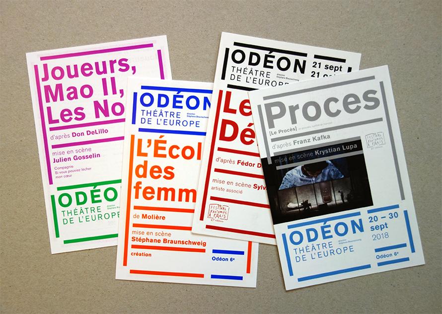 Odéon - Théâtre de l'Europe 18/19 - Cartes