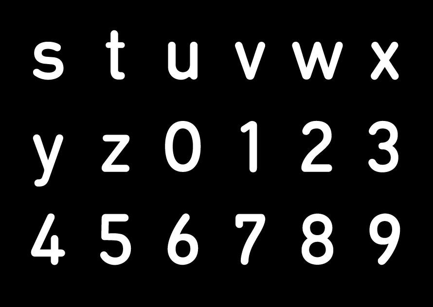 Typographie P06 - PeclersParis
